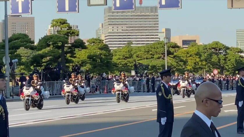 Powitanie Naruhito w Tokio