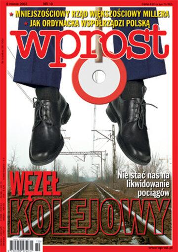 Okładka tygodnika Wprost nr 10/2003 (1058)