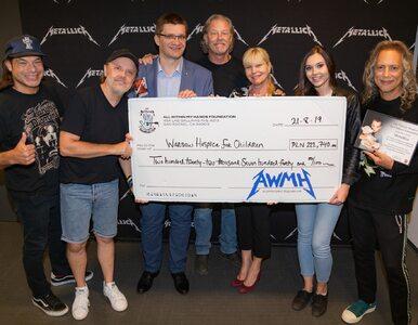 Metallica pomaga polskim dzieciom. Zespół przekazał 222 tys. złotych na...