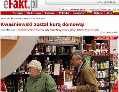 Kwaśniewski został kurą domową!