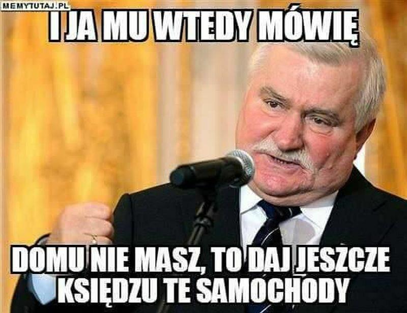 Mem z samochodami dla o. Rydzyka