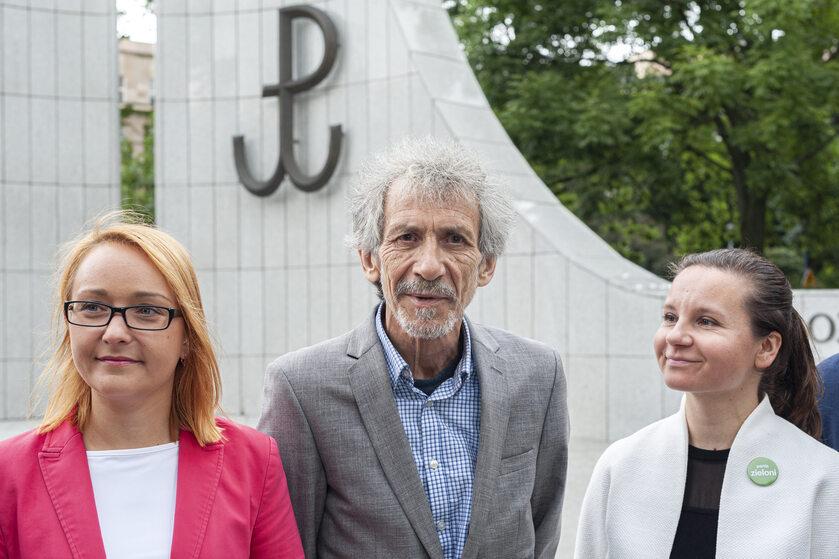 Od lewej: Małgorzata Tracz, Marek Kossakowski, Urszula Zielińska