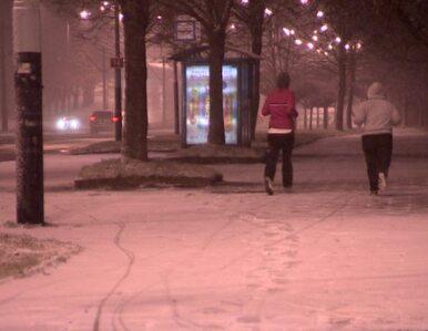 Śnieg sypnął w Łodzi