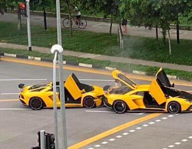 Zderzenie dwóch identycznych Lamborghini. Wyglądało jak ustawka