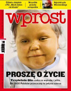 Okładka tygodnika Wprost nr 36/2010 (1439)