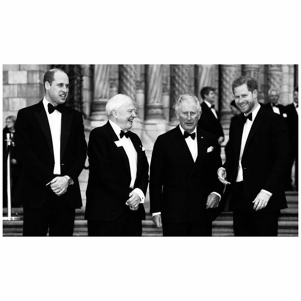Książę William, książę Karol i książę Harry