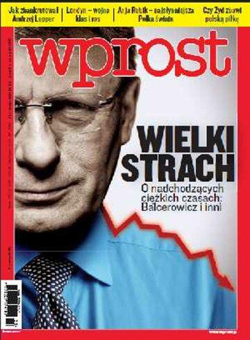 Okładka tygodnika WPROST: 33/2011