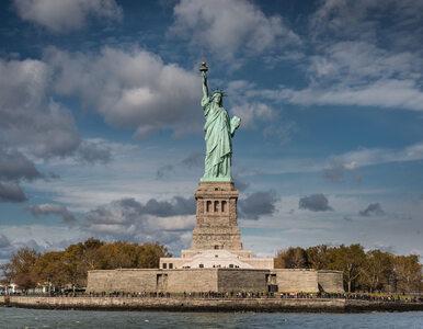 Amerykanie protestują przeciwko polityce Trumpa. Kobieta wspięła się na...