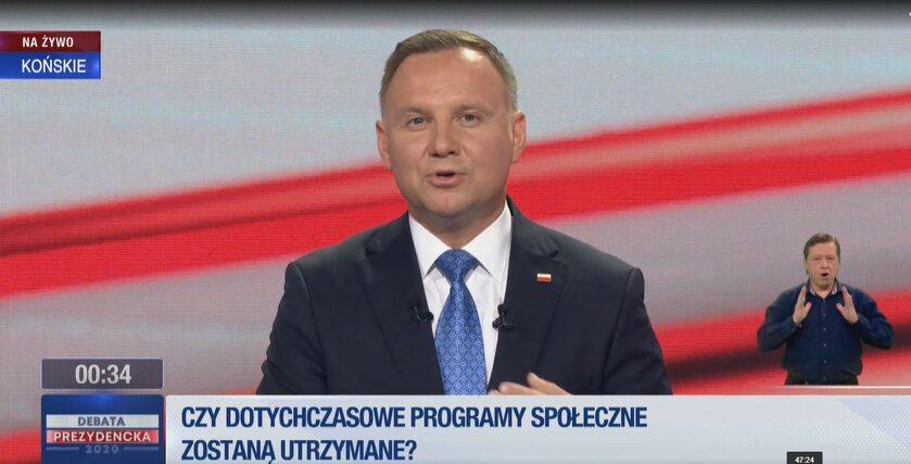 Andrzej Duda w TVP