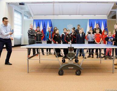 Ping-pong w Kancelarii Premiera. Dzieci zmierzyły się z Mateuszem...