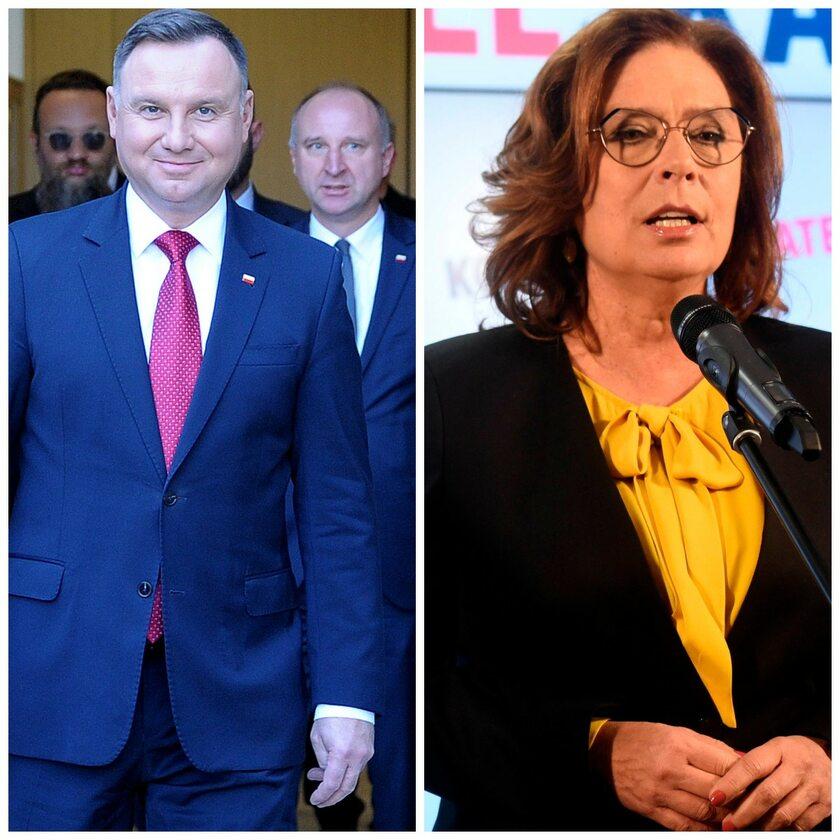 Andrzej Duda i Małgorzata Kidawa-Błońska