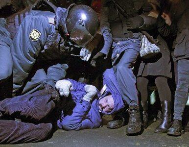 Policja brutalnie rozpędziła oponentów Putina