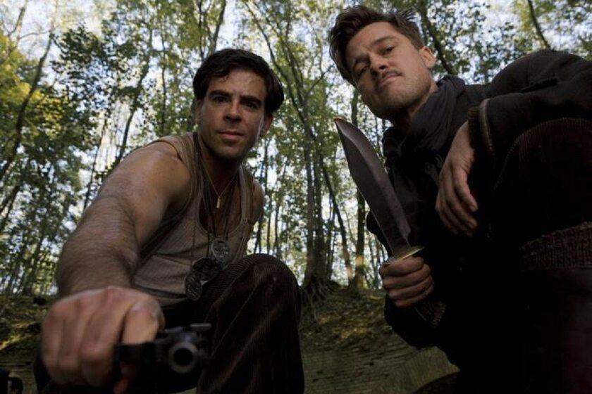 """Brad Pitt i Eli Roth w filmie """"Bękarty wojny"""" (2009)"""