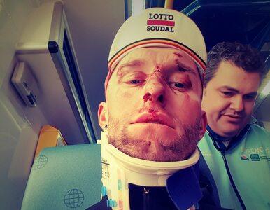 Polski kolarz potrącony przez samochód. Kask uratował mu życie