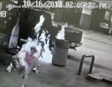 Mężczyzna podpalił swoją żonę na stacji benzynowej