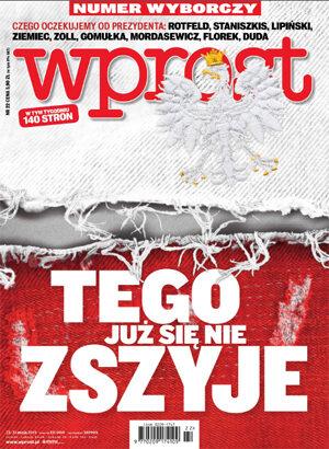 Okładka tygodnika Wprost nr 22/2015 (1681)