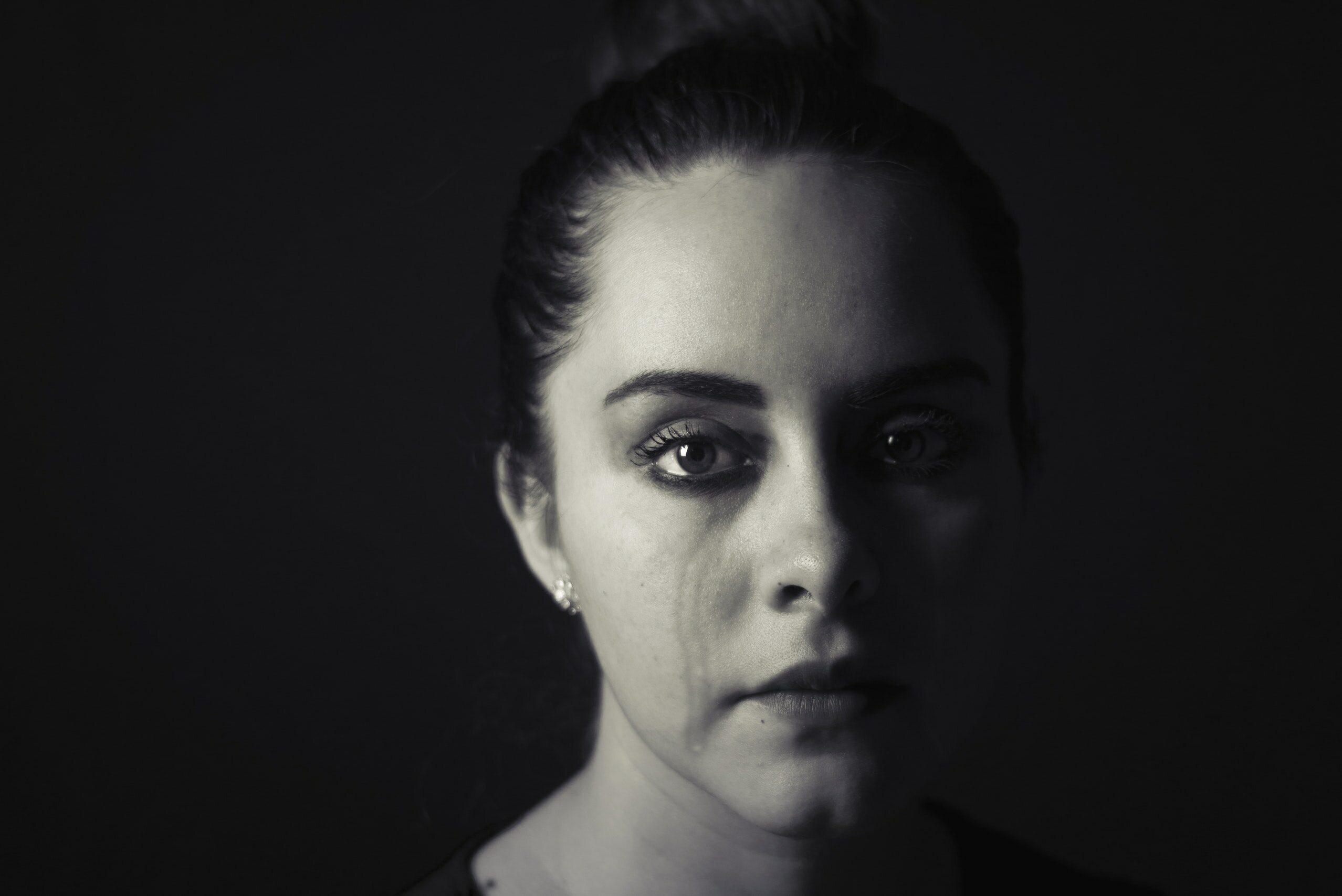 Zapłakana kobieta