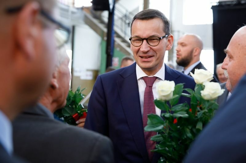 Mateusz Morawiecki na uroczystościach 38. rocznicy podpisania Porozumień Sierpniowych