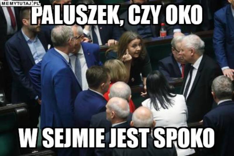 Mem po geście posłanki Lichockiej
