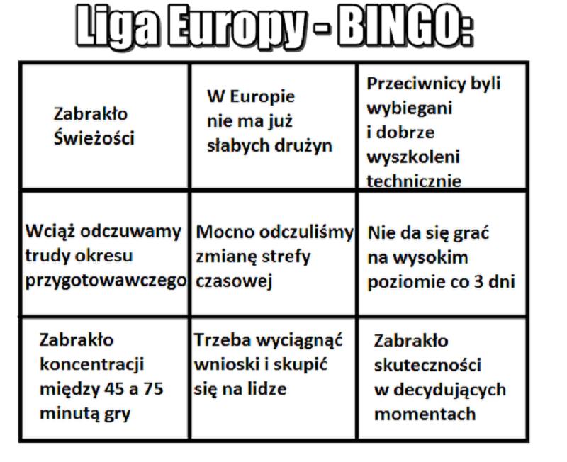 Polskie kluby odpadają z europejskich pucharów - mem