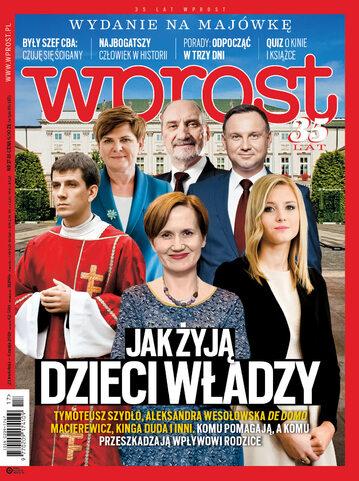 Okładka tygodnika Wprost nr 17/2018 (1833)