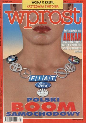 Okładka tygodnika Wprost nr 21/1999 (860)