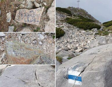 Wycieczka szkolna pomazała skały w drodze na Giewont? Tatromaniak prosi...