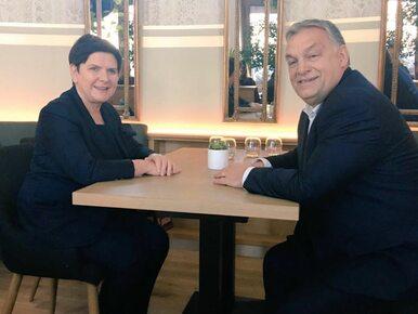 """Beata Szydło wrzuciła zdjęcie """"przy herbacie"""" z Viktorem Orbanem. Czego..."""