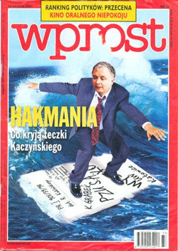 Okładka tygodnika Wprost nr 33/2001 (977)