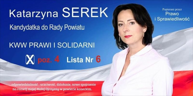 Plakat wyborczy Katarzyny Serek