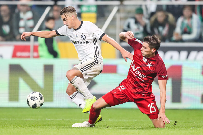 Mecz Legia Wisła z rundy jesiennej sezonu 2018/2019