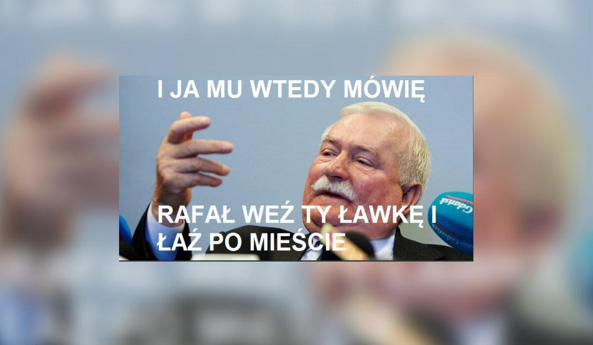 Mem z Rafałem Trzaskowskim