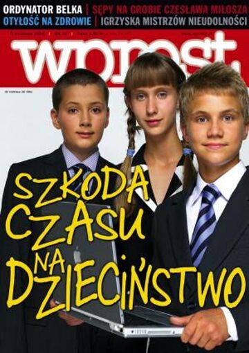 Okładka tygodnika Wprost nr 36/2004 (1136)
