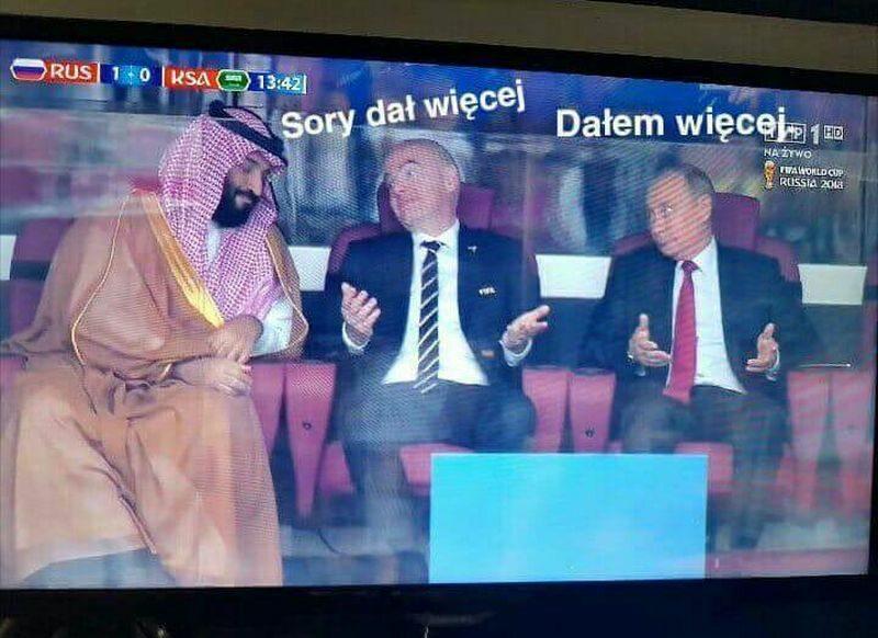 Mem po meczu Rosja - Arabia Saudyjska