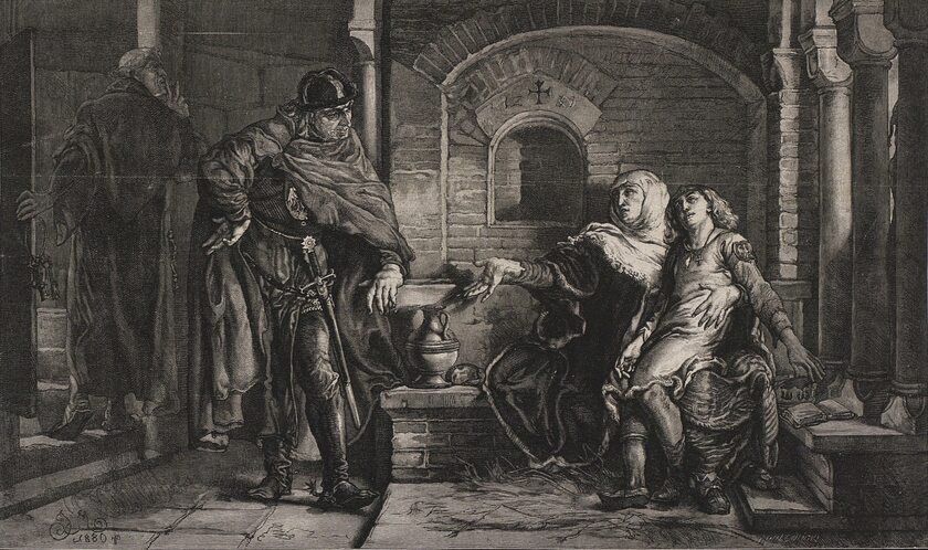 Młody Bolesław Wstydliwy z matką Grzymisława