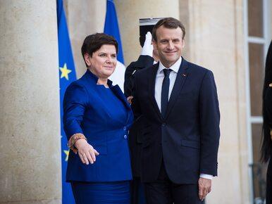 """Kempa po spotkaniu premier Szydło z Macronem. """"Prezydent Francji wycofał..."""