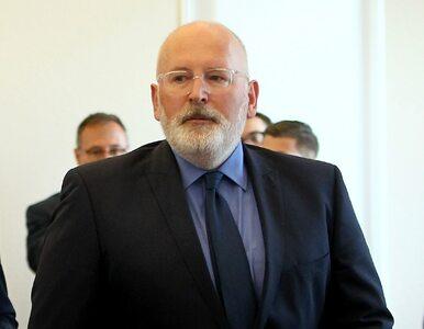 Timmermans krytycznie o pytaniu Ziobry: Jest sprzeczne z podstawami Unii...