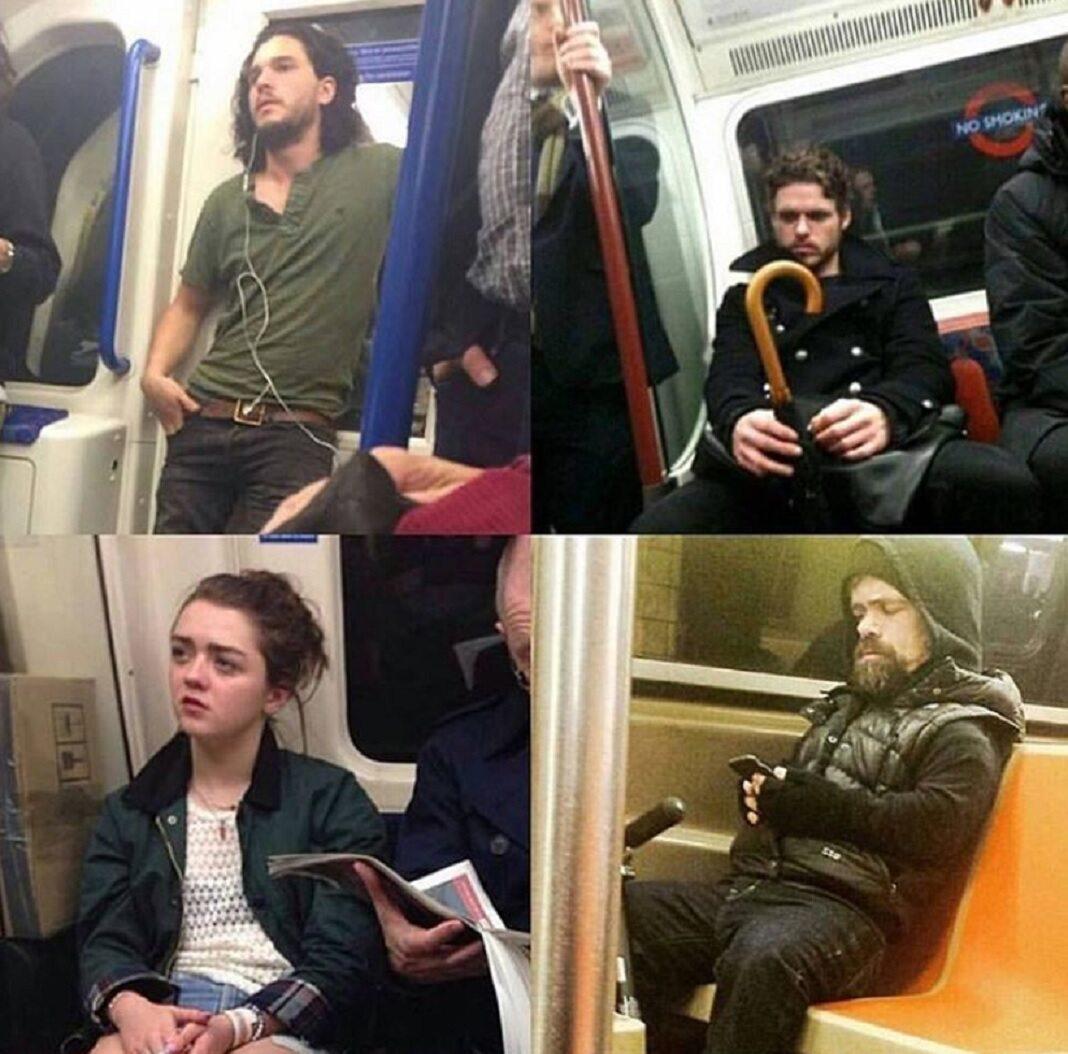 Obsada serialu w metrze, przyłapana przez fanów