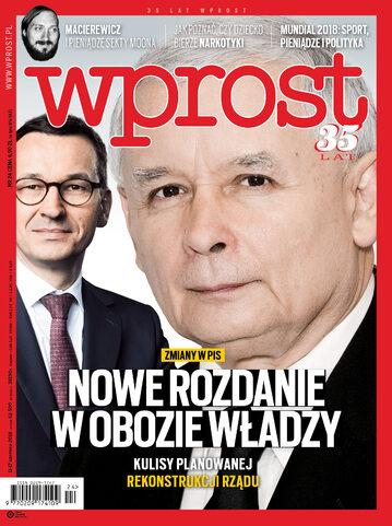Okładka tygodnika Wprost nr 24/2018 (1839)