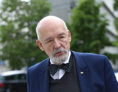 """Janusz Korwin-Mikke kontuzjowany. """"Zlekceważyłem elementarz"""""""