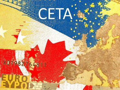 Parlament Walonii za podpisaniem umowy CETA