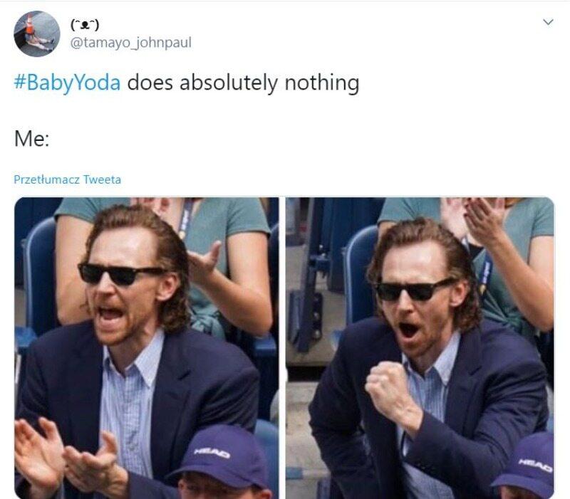 Mem z Baby Yodą