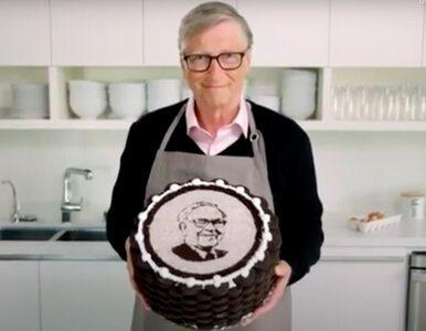 Bill Gates został kucharzem. Zobacz jak miliarder upiekł tort...
