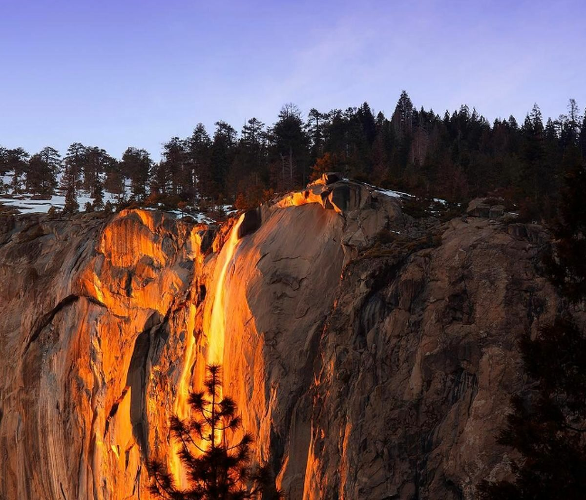 Wodospad Horsetail Fall