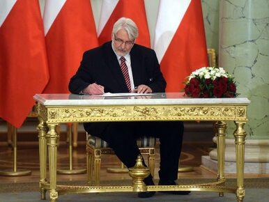 Waszczykowski: Zależy nam, aby Polonia była wpływową i dostrzeganą w...