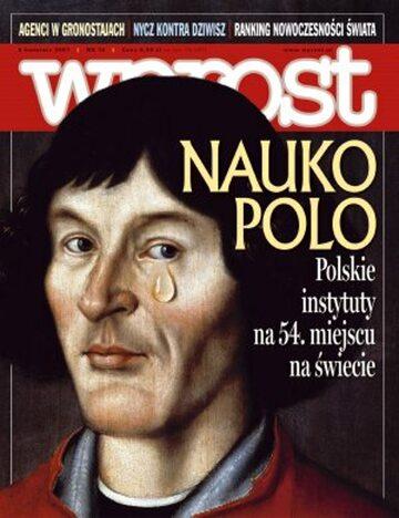 Okładka tygodnika Wprost nr 14/2007 (1267)