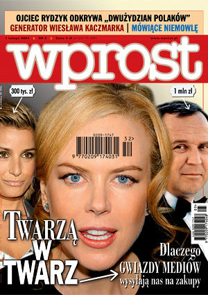 Okładka tygodnika Wprost nr 5/2004 (1105)