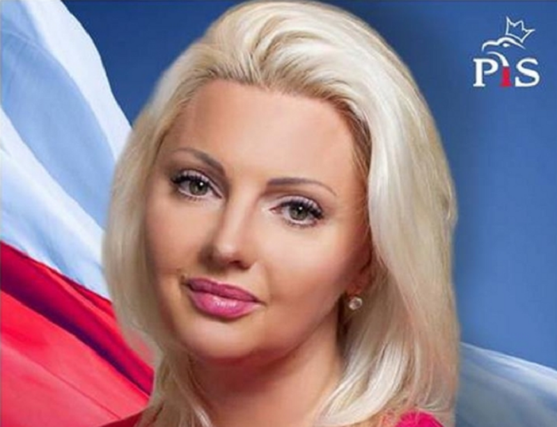 Lucyna Klein-Klarenbach na plakacie wyborczym