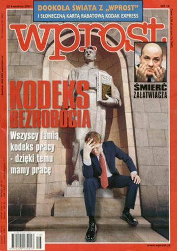 Okładka tygodnika Wprost nr 16/2001 (960)