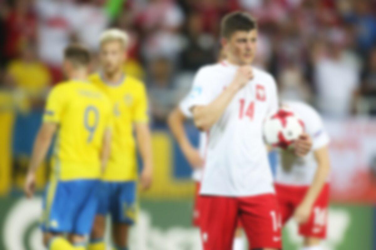 Dawid Kownacki w meczu ze Szwecją